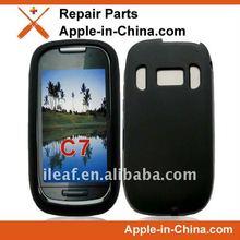 Hot sales silicone case for Nokia C7 black color