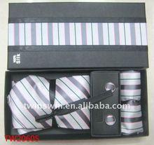 2012 new fashion ployester tie with box(white)