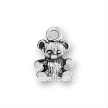 alloy plating antique silver small teddy DIY jewelry accessories lead free,nickel free