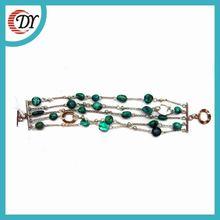 silver bracelet chain bracelet turquoise