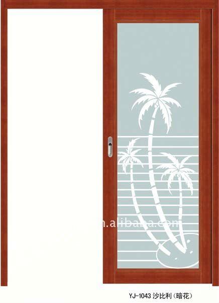 Puertas De Baño Aluminio:De aluminio puerta corredera para baño y cocina-Puerta