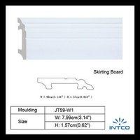 White wood Baseboard