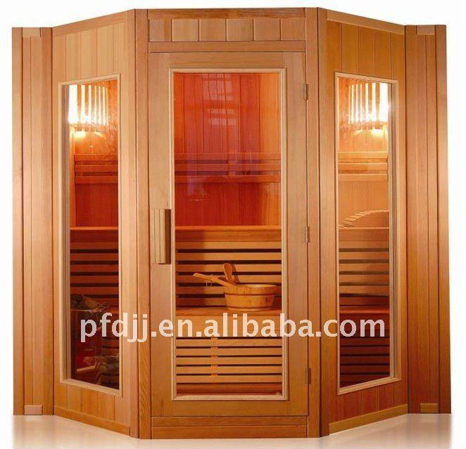 Sauna de madera de la puerta con vidrio templado puertas - Madera para sauna ...