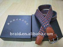 woven braided leather pu belt sea shell belt