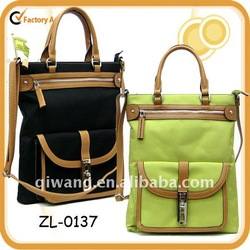 Lady Nylon bag with PU trimmed