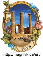 Greece: Athens, Attica, Crete, Rhodes Ceramic fridge magnets