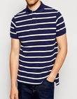 Mens Blue and white striped polo T shirts