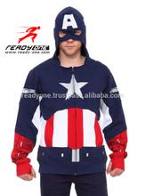 Captain America cheap men hoodies custom printed wholesale hoodies