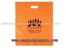 Cheap price HDPE orange die cut bag