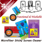 mobile accessory designed cleaning sheet pc case microfiber soft touch cleaner