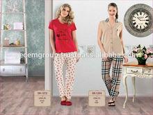fashionable turkish cotton pyjamas for adult women