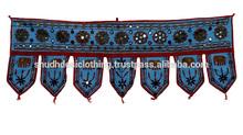 Mirror Embroidery Work Door Hanging Traditional Handmade Cotton Door Hanging Toran