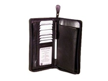 Customized Leather Travel Wallet / high quality indian leather travel walles for man and woman