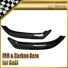 For Audi 2011 A1 Carbon Fiber OEM Style Front Bumper Lip (2 Pcs)
