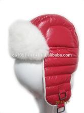 Kids Taffeta Rex Rabbit Fur Winter Hat