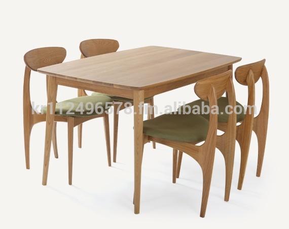 Scandinavische en hedendaagse moderen eiken houten eettafel set houten tafels product id - Scandinavische cocktail tafel ...