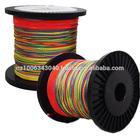 High quality 80LB Multi-color PE braid line 4 stands PE fiber fishing line