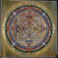 Mandala tibetano hermosa- de alta calidad mandala tibetano thangka hechos a mano en nepal