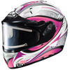 HJC IS-16SN Lash MC-8 Pink Ladies Full Face Snowmobile Helmet - Electric