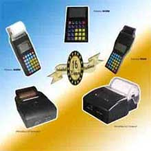 Handheld electronic cash register with thermal printer