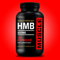 Muscle Power Max Black Round Bottle HMB 500mg High Strength Capsules Wholesale Diet Supplements