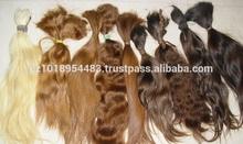 "16"" - 20"" Russian virgin human hair for hair extensions, slightly wavy human hair"
