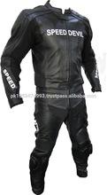 Leather Race Motorbike men Suit Black/Racing Motorcycle Suit, Best Quality Custom Natural Cowhide Leather Motorbike Suit