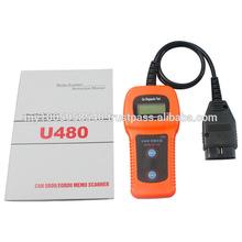Free Shipping!!2014 Newest High Quality U480 OBD2 CAN BUS&Engine Code Reader U480 Code Reader Scanner for VW,AU-D1 U480 Scanner