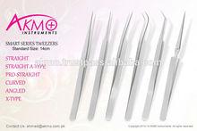 Smart Fine Pointed Eyelash Extension Tweezers 14cm X Type
