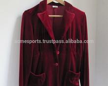velvet suits- velvet long coats - velvet blazers - ladies velvet tops shirts - v neck velvet t shirts - velvet sweatshirts