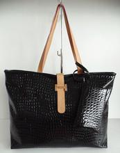 black stone pattern design fashion popular shopping lady bag with pocket