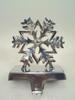 Snow Flower Metal Stocking Holder , Christmas Stocking Holders For Home Decorations, Designer Stocking Holder For Christmas