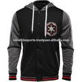 pico de malha personalizadas jaquetas varsity para homens de preto