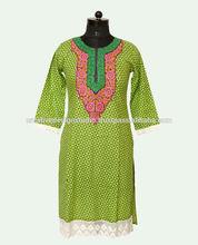 Elegant style women wholesale tops neck designs of kurtis