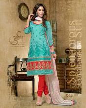 Wholesale factory price lace designer cotton salwar kameez embroidered designer cotton salwar kameez