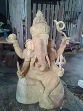 wood carving of ganesha