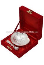 German Silver Metal Bowl Set for Kictchen Decor Dinnerware Sets Gift Sets