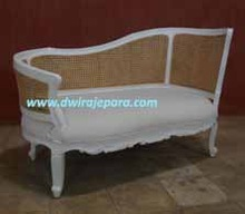 Indonesia Furniture - Chaise Lounge Rattan Mahogany Furniture For Living Room