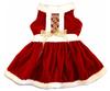 logo custom dog Holiday Mrs Claus Dog Dress dress clothes