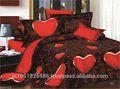 siyah kırmızı gül 3d baskı çift kişilik çarşaf iki yastık örtüsü seti