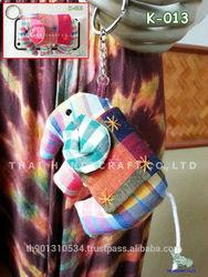 Thai Handmade Big Elephant souvenir key Chains