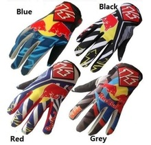 KTM Red bull Cycling Bicycle Racing Motorcycle Motocross MTB Full Finger Gloves Motorcycle Mountain Bike Cycling Racing Gloves