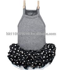 custom logo dog Louis Dog Organic Triple Dress in Black apparel dress clothes