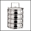 stainless steel tiffin lunch box round and belly tiffin box