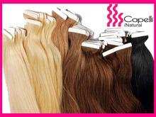 100% virgin brazlian hair/ high quality double sided tape hair extensions human hair wig