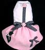 pet custom logo dog Yorkie Poodle Style Skirt Dress Costume Pink Dog Harness Dress apparel dress clothes