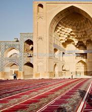 Cheap OEM Plush Red Brown Floral Vine Mosque Muslim Prayer Rug , designer roll decorative color patterned flooring islamic