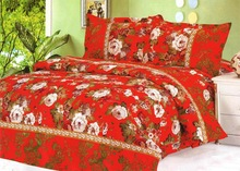 Bright colorful Floral used home bedsheet,full set bedding textile , Embroidery bedsheet , Disappear printed 100%polyester