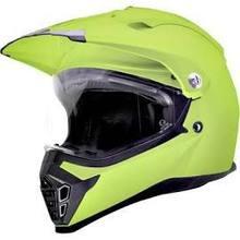 SparX Nexus Solid Dual Sport Motorcycle Helmet - Fluorescent Green TR