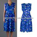 Para mujer de moda occidental vestido de la tendencia elegante de noche vestido de fiesta vestido delgado